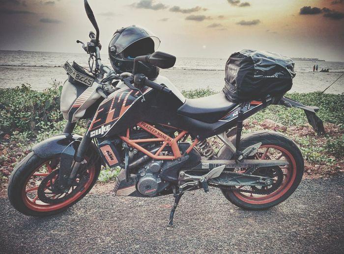 Beach Ktm Duke390 Sunset Bike Ride