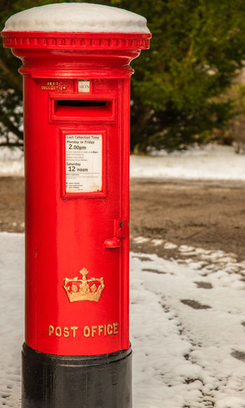 The Royal Post Box at Balmoral Castle Balmoral Castle Scotland Winter Communication Heritage Iconic Buildings No People Outdoors Post Box  Public Mailbox Red Red Post Box Royal Mail Snow Covered Snow Scene