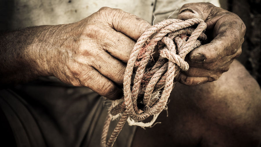 Dirty hands Old Man Braided Close-up Day Dirty Hands Focus On Foreground Heavy Work High Angle View Holding Human Body Part Human Hand Indoors  Knitting Needle Men One Person People Rope Strength Tied Knot Tied Up Tying Working Hands Inner Power This Is Aging