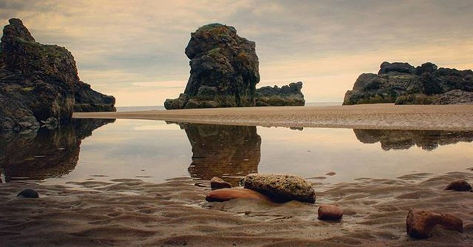 Another World - I captured this shot at St. Cyrus beach a while back. I liked the alien rock formations and reflection. I sometimes struggle to decide if an image is good or not. I never shared this, but sometimes when I share photos I'm not sure about, they surprise me and do well. Perhaps I am too critical... Seeking perfection is not a bad quality as a photographer I guess. :-) Stcyrus Stcyrusbeach Rocks Rockformation Beautiful Sunset Reflection Pebbles Edit Anotherworld Sky Clouds Skyporn Confidence  Translate Alien Planet Aberdeenshire Visitaberdeen Visitaberdeenshire EyeEm Nature Lover Seascape Coastline EyeEm Best Edits EyeEm Best Shots