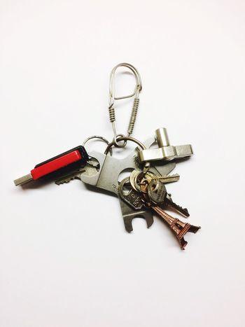 Work tools Tools Keys Thumbdrive Eiffel Tower Red