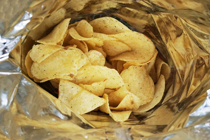 bag of potato chips Bag Bag Of Chips Cheese And Onion Chips Close-up Crisps Food Food And Drink Indulgence Inside No People Packet Packet Of Crisps Potato Chips Snack Temptation Unhealthy Eating