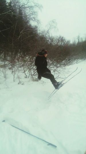 Freestyle Skiing Bout To Backflip First Backflip Attempt
