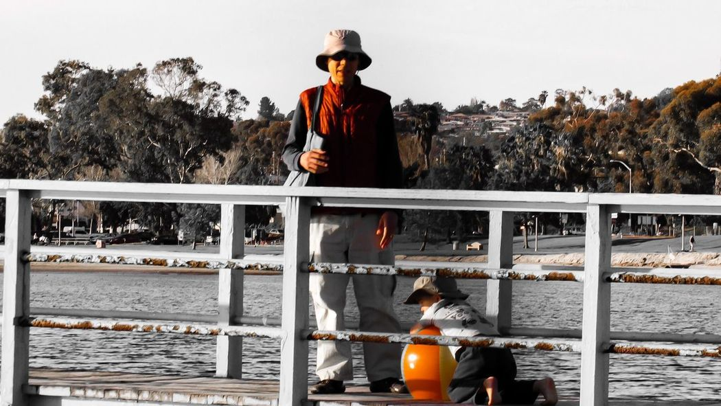 Real People Lifestyles Front View Day One Person Men Cap Outdoors Leisure Activity Standing Nautical Vessel Sky Nature Water Catch Of Fish EyeEm Best Shots EyeEm Best Edits Cloud - Sky EyeEm Tranquility Adult Beauty In Nature San Diego