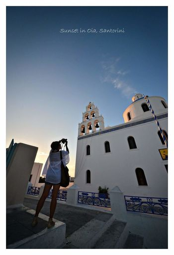 That's Me Taking Photos Sunset Santorini Greece First Eyeem Photo Solotraveler Travel Holiday