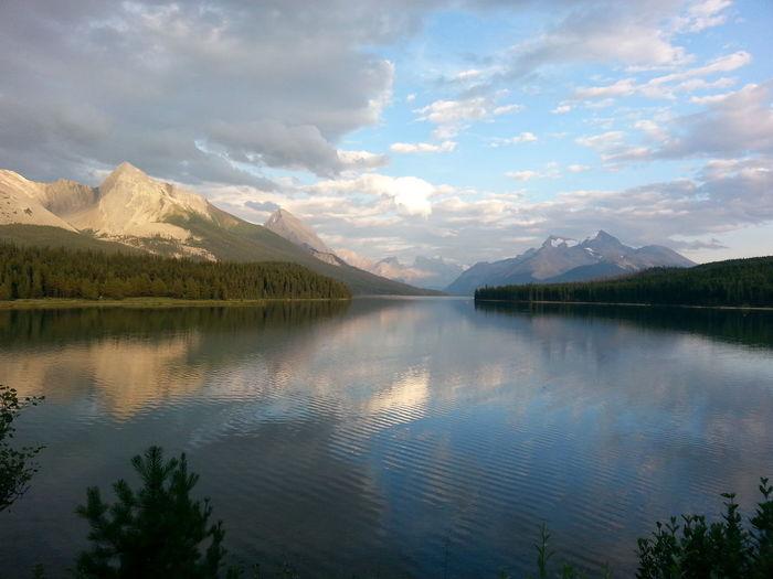 The Great Outdoors With Adobe Maligne Lake MaligneLake Jasper Alberta Jasper National Park❤️ Mountains Mountains And Sky Jaspernationalpark Jasper Canada