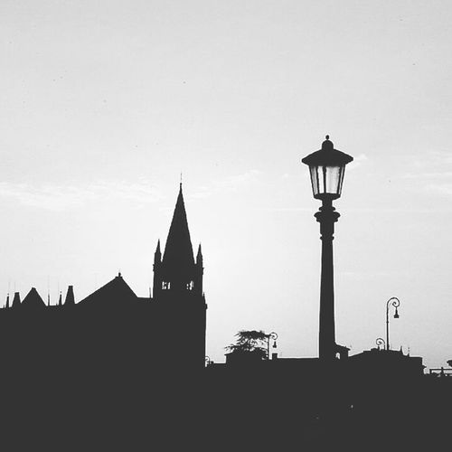 Silhouette Silhouette Blackandwhite EyeEm Best Shots Monochrome Shadow Enjoying Life Eye4photography  Blackandwhite Photography Silhouette Travel Destinations Architecture Street Light Clock Tower History Tourism Outdoors No People Sky Cityscape Urban Skyline Day Clock Face City Building Exterior