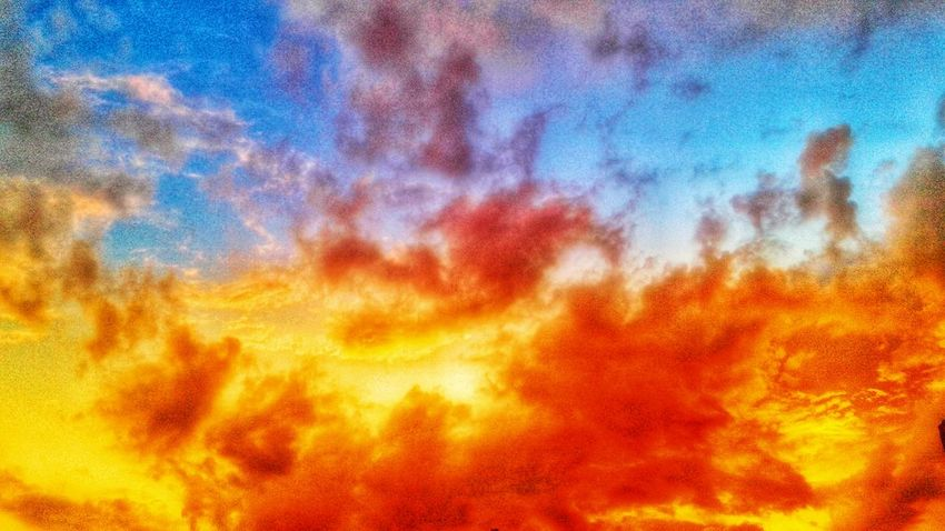 VAN GOGH LOOKED FOR SOME YELLOW WHEN THE SUN DISAPPEARED Sunlight Sun Sunshine Sunset Skyscape Clouds And Sky Blue Sky Yellow Painting Photography Van Gogh William Blake