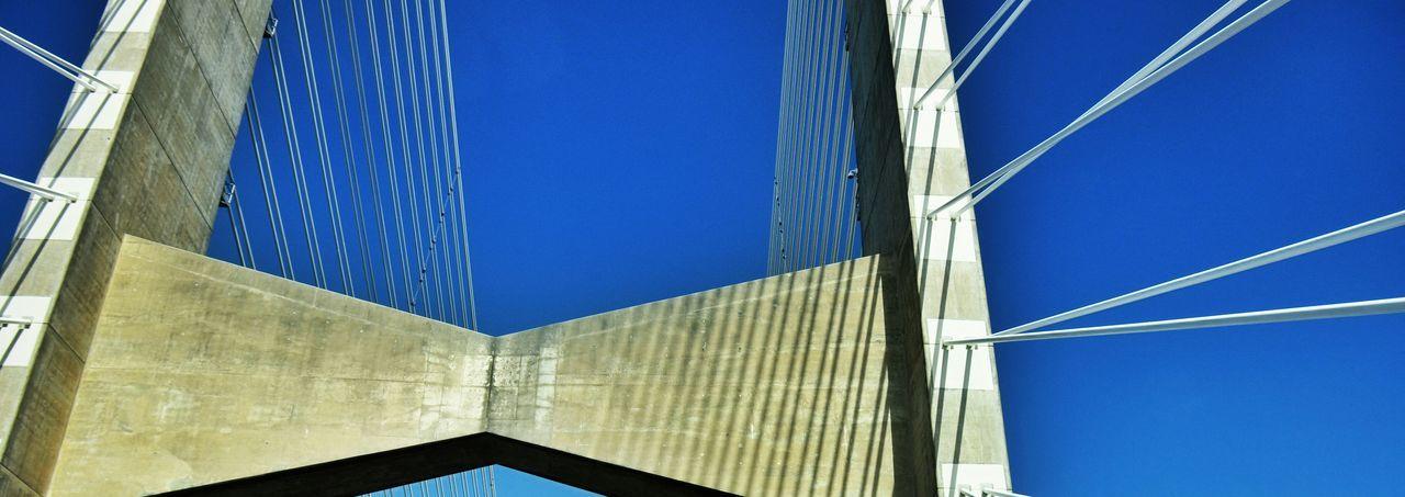 Bridge Deceptively Simple Architecture_collection Cobalt Blue By Motorola Bridges Lines Bridge View Driving On Bridge