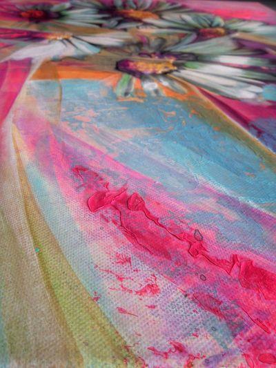 Macro Beauty Acrylic Painting Acrylic Fine Art Photography Neon Pink Pastel Power Pastel Shades