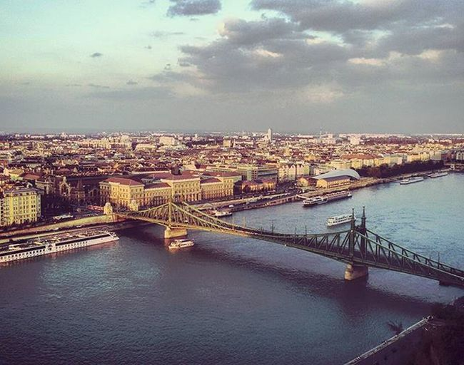 Liberty bridge... Budapest sunset june 2015 from Gellerthill Szabadság Pippyintrip