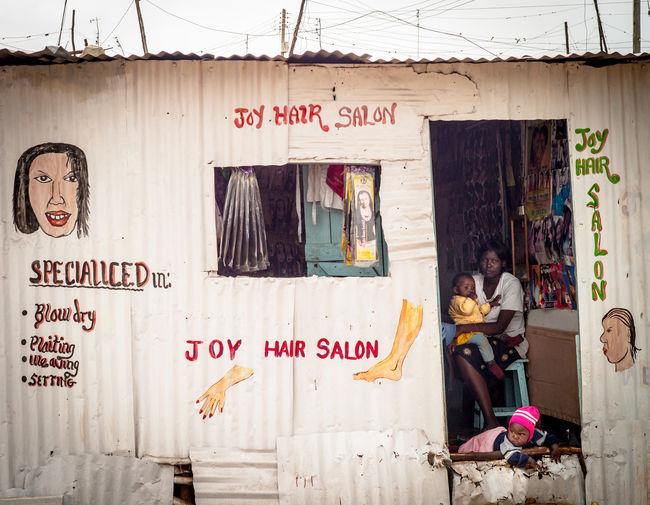 Small Business 3rdworld Kenya Nairobi Jua Kali Life In A Slum Kibera Slum KiberaStories Kibera Text Corrugated Iron Wellblech Wellblechhütte Advertisement Hair Salon Salon Slum Life Hair