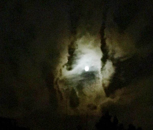 Dramatic Sky Night Moon Low Angle View Sky No People Cloud - Sky Space Beauty In Nature Moonlight Scenics - Nature Outdoors Tranquil Scene HUAWEI Photo Award: After Dark