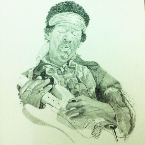 Work in progress Jimihendrix Art Drawing Music