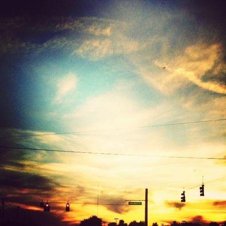 Random(: Stop Light Scenery Clouds And Sky