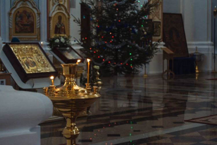 From My Point Of View By Ivan Maximov Eyeem Photo The Week On EyeEm Cathedral Candles Candles Light Chirch Composition Traveling Vitebsk,Belarus Religion Indoors  Christmas Spirituality No People Gold Colored Travel Destinations Christmas Decoration Illuminated Architecture Close-up Day