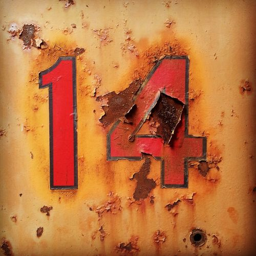 Fourteen 14 Rusted Rust Rustic Old Numbers Number 14 Fourteen Red Detail Closeup Close-up Close Up Colorful Color Backgrounds Background Taking Photos Taking Pictures Chipped Paint ChippedPaint Rustygoodness EyeEm Best Shots