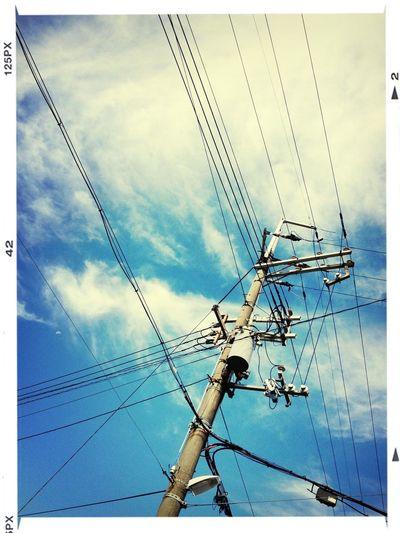 晴れました! Good Morning! Power Lines Clouds And Sky そら