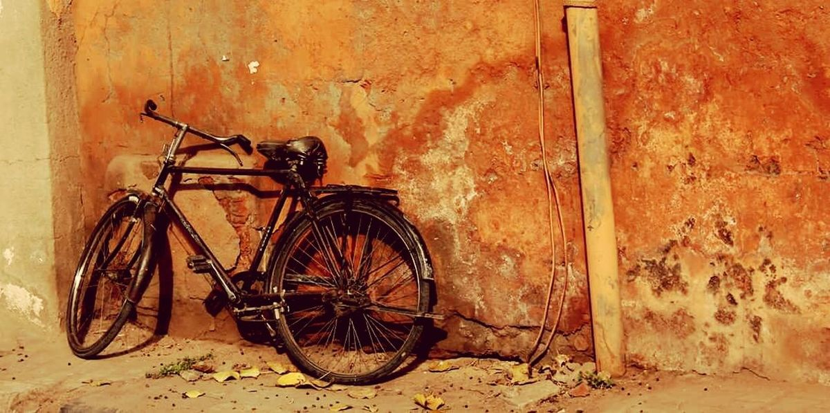Bicycle No People Outdoors Day India Beautifulindia Rajasthan Colors