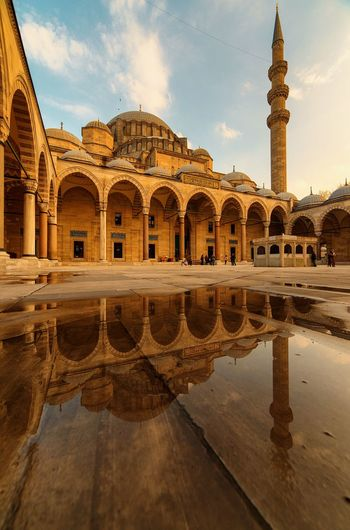 Reflection Of Suleymaniye Mosque In Water