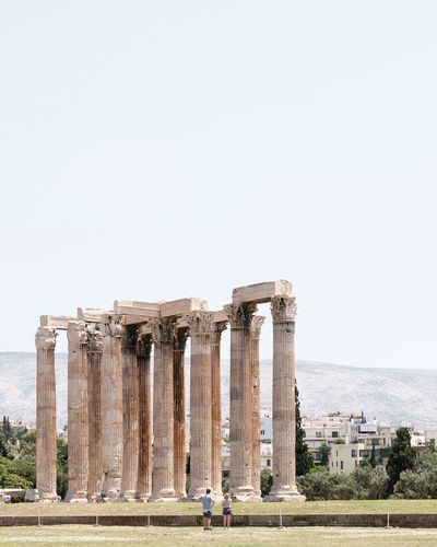 the temple of olympian zeus 🏛️ Athens Athens, Greece Eyemphotography Minimalistic Minimalist Architecture The Architect - 2017 EyeEm Awards Old Ruin Ancient History Archaeology Ancient Civilization Architectural Column Architecture Tourism The Past Built Structure Monument Travel Destinations Copy Space Travel Day Landscape Outdoors Sky Clear Sky Sommergefühle EyeEm Selects EyeEm Selects Been There. Done That.