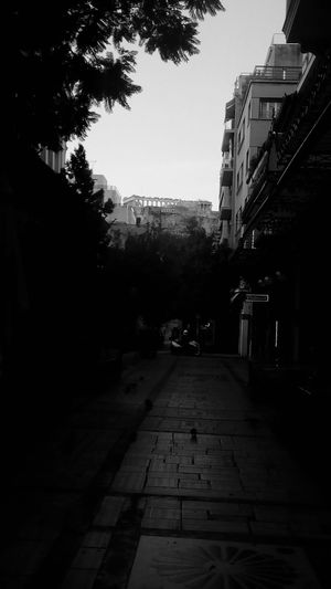 Blackandwhite Black And White Black & White High Contrast Acropolis, Athens Aiolou Buildings Pedestrianwalkway Blackandwhite Photography Black And White Photography Black And White Collection  Athens Athens, Greece