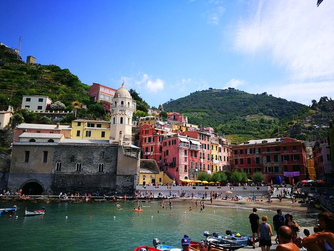 Looking toward the little town from the harbor. Colorful Buildings In The Background Colorful Buildings Colorful Building Vernazza Vernazza Italy VERNAZZA LIGURIA Vernazza, Italy Cinque Terre Cinqueterre Cinque Terre Liguria Cinque Terre, Cinque Terre Italy Cinque Terre Vernazza Cinque Terre Ports Liguria Liguria,Italy Liguria, Italy Liguriansea Ligurian Coast. Liguria Di Levante Ligurian Riviera Water Beach Clear Sky Enjoyment Arts Culture And Entertainment Sky Architecture Building Exterior Built Structure