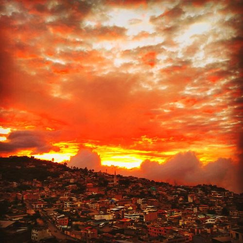 #atardecer Lava Forest Fire Sunset Accidents And Disasters Heat - Temperature Power In Nature Sky Landscape