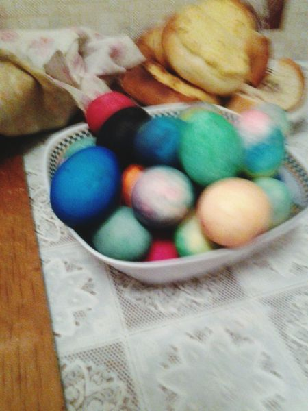 Indoors  Multi Colored Table Basket Easter No People Pastel Colored Close-up Food Sweet Food Day