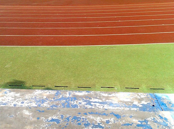 The Color Of Sport College Playground Lines Young Vivid Colors