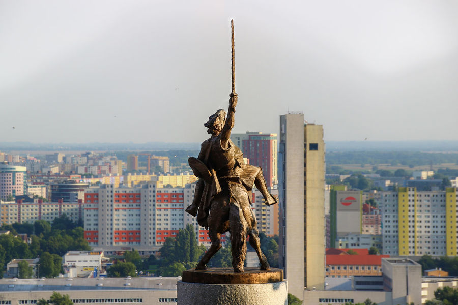 Equestrian statue of King Svatopluk I on Bratislava castle, Slovakia Architecture Bratislava City City Life Cityscape Day Downtown District Hrad Human Representation Miles Away Monument No People Old Vs New Outdoors Sculpture Sky Skyscraper Slovakia Statue Statue Sword Travel Destinations Travelling Urban Skyline Miles Away Secret Spaces The Architect - 2017 EyeEm Awards Neighborhood Map The Architect - 2017 EyeEm Awards Your Ticket To Europe Been There.