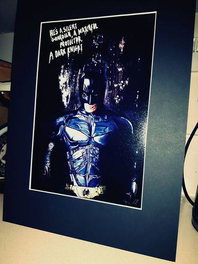 a nice limited edition print signed and customised by sm-arts / solly of the batman Batman The Dark Knight  Batman Film MOVIE ArtWork Print Classy Thedarkknightrises ChristianBale