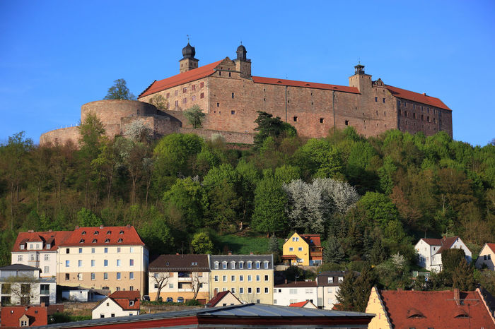 old city and castle Plassenburg of Kulmbach, Frankonia, Bavaria, Germany Architecture Building Building Exterior Built Structure Castle City Clear Sky Day History House Kulmbach Nature No People Outdoors Plant Plassenburg Religion Residential District Sky The Past Travel Travel Destinations Tree