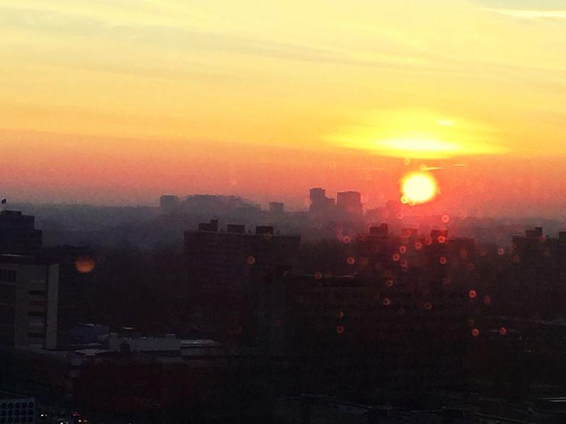 Sun up Zuidas First Eyeem Photo