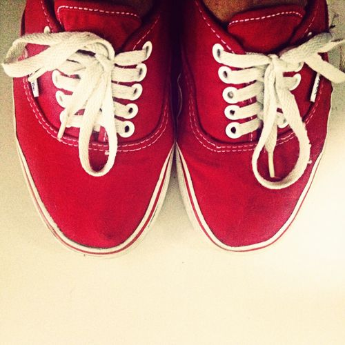My Shoes Red Shoes Vans Authentic Vans Off The Wall