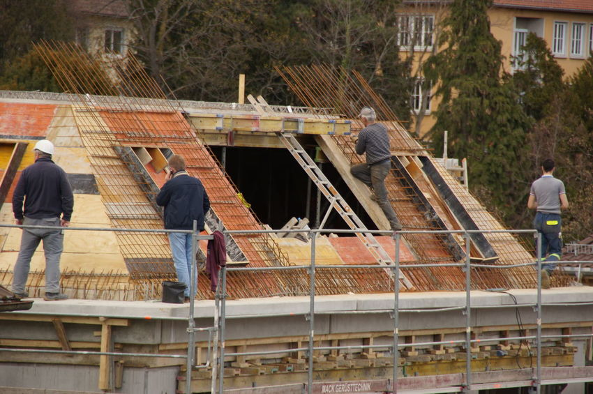 Man at work Architecture Architecture_collection Building Building Exterior House Building Man At Work New House Roof