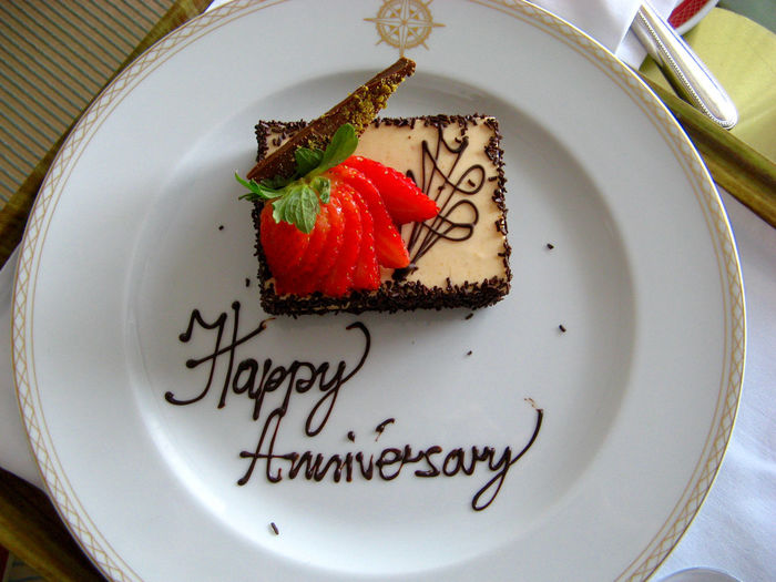 Happy Anniversary chocolate dessert Anniversary Cake CELEBRATION DAY Celebration Event Chocolate Chocolate Cake Decorated Food Dessert Dessert Food Food Design Garnish Happy Anniversary Happy Anniversary! Indulgence Still Life Sweet Food Temptation