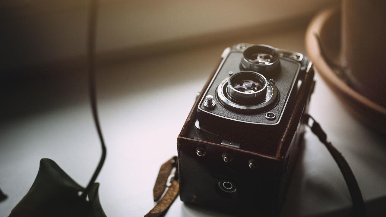 Close-up view of camera