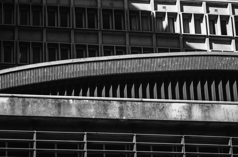 Close-up of bridge in city