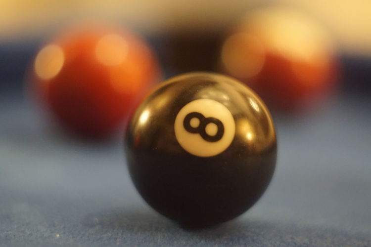 Sport Pool Ball Ball Number Close-up Pool Table 8 Ball Focus On Foreground Pool - Cue Sport Leisure Activity Indoors