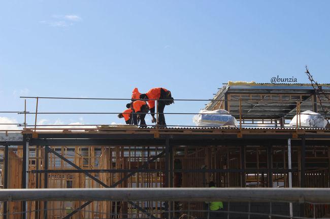 Architecture Builders Built Structure Labour Low Angle View Men Outdoors Rawshot Sky