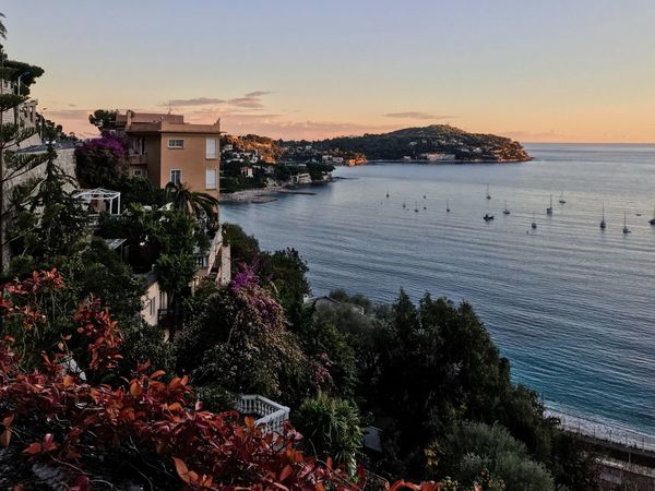 Villefranche-sur-mer Mediterranean  EyeEm Nature Lover Nature_collection French Riviera France Côte D'Azur Landscape_Collection EyeEm Sunset Sunset_collection Sunset Built Structure No People Beauty In Nature Outdoors Scenics Sky Clear Sky Beach Tree