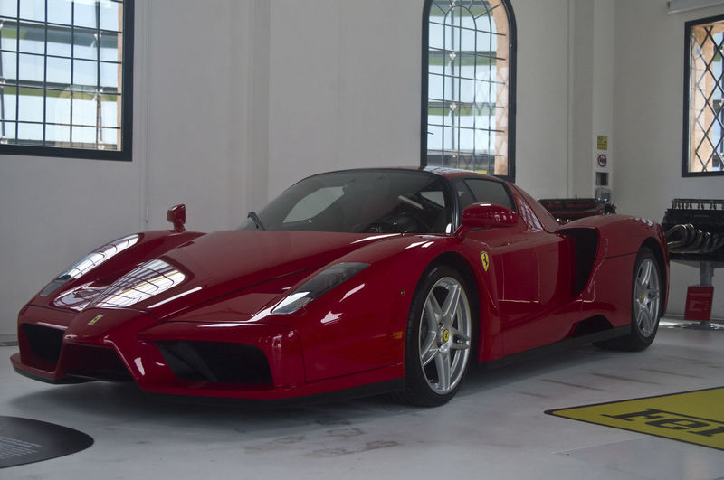 Ferrari Ferrari Museum Modena Architecture Car Car Museum Day Indoors  Land Vehicle No People Old Ferrari Red Red Car Transportation