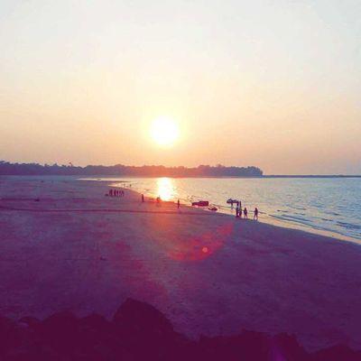 Beauty Sunset at Mandwa Jetty Alibaug Raigad Traveldiaries TravelTales Lifeonmove GoodTimes Mothernature