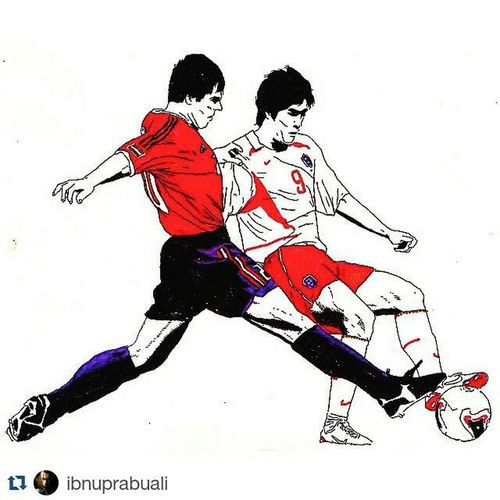 Repost @ibnuprabuali with @repostapp ・・・ Art Illustration Drawing Draw Picture Photography Artist Sketch Sketchbook Paper Pen Pencil Artsy Instaart Gallery Masterpiece Creative Instaartist Graphic Graphics Artoftheday Football Soccer SPAIN southkorea worldcup2002 bigmatch espana korea