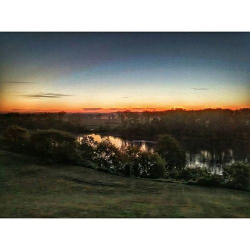 Sunset over Missouri river... Ks_pride Sunsets Wow_america_landscape Colorful Missouririver