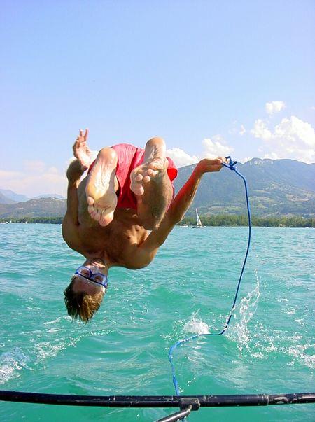 Jump! Enjoying The Moment Blue Lake Boat Ride Katamaran The Moment The Moment - 2015 EyeEm Awards The Amazing Human Body Jumping Shot Popular Photos