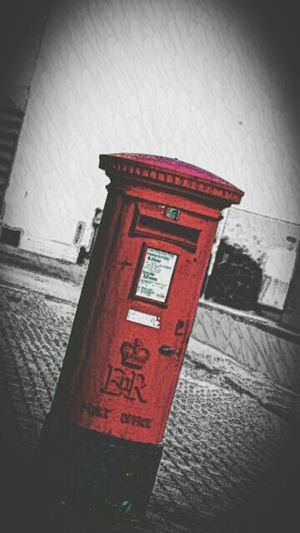 Red Post Box Postal Taking Photos Liverpool, England Oldfashioned