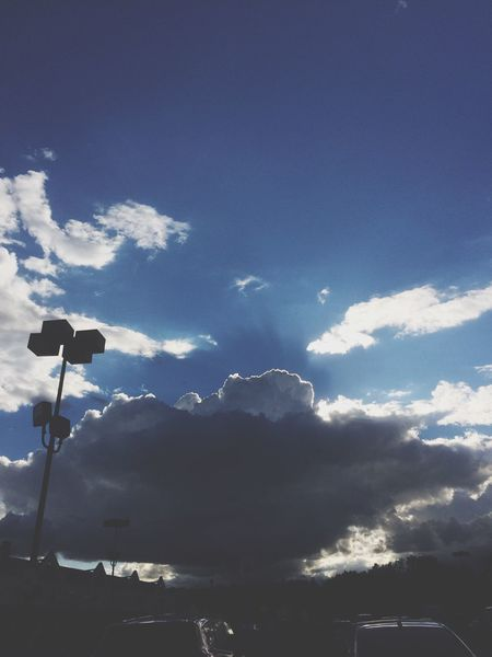 Clouds Blue Sky Clear Day Sunlight Kroger Browsntown Michigan