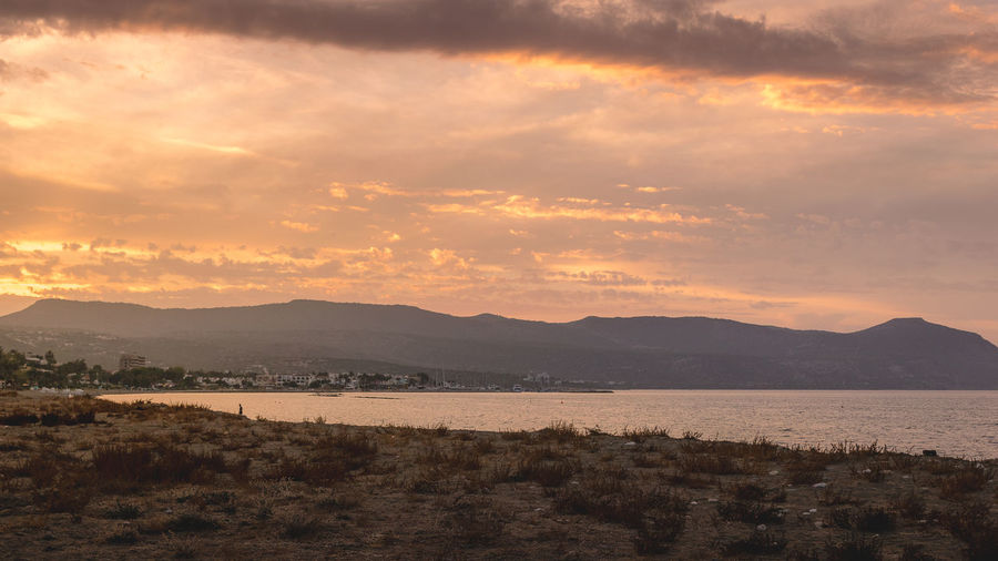 Beauty In Nature Cyprus Landscape Latchi Latxi Mountain Mountain Range Nature No People Outdoors Scenics Sky Sunset Tranquil Scene Tranquility Water